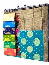 Party Wear Ladies Embossed Ethnic Silk Saree, 6.5 m (with blouse piece), Machine Made
