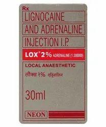 Lox 2% Adrenaline ( Lignocaine And Adrenaline Inj)