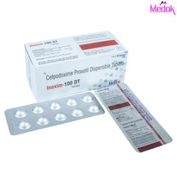 100 Mg Cefpodoxime Proxetil Dispersible Tablets