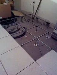 Corporate Building Steel cement False Flooring Service, For Indoor, Fireproof