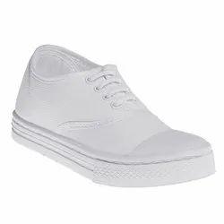 Rubber School White PT Shoes, Size: 7