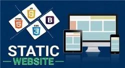HTML5/CSS Static Website Development, With Online Support