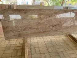 Polished Sattur Ivory Granite Stone Slabs, For Flooring, Thickness: 20 mm