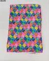 Colorful Japan Sartin Silk Digital Print Fabric