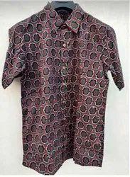 Half Sleeves Printed Cotton Fabric Shirt