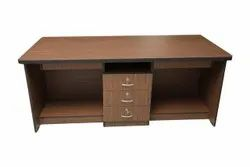 Wooden Googly Office Table, Brown
