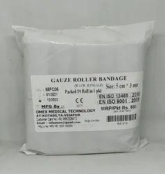 Gauze Roll Bandage 5cm x 3mtr