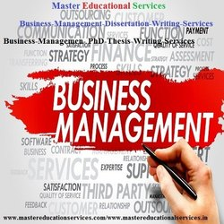 Business And Management Dissertation Writing Services
