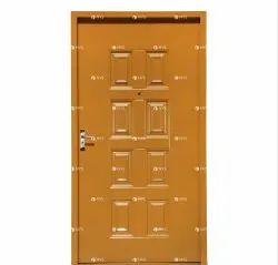 Mustard Galvanized Stell Metal Door, Thickness: 45 Mm, Material Grade: High