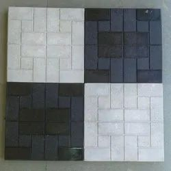 White & Black Cement Chequered Tiles, Thickness: 25mm, Size: Medium