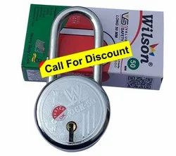 Wilson With Key Long Shackle Padlock 50 mm, Packaging Size: 5 Pieces, Chrome