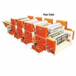 Four Color Flexo Paper Cum Board Printing Machine