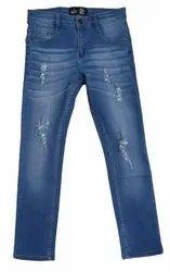 Regular Fit Casual Wear Men Blue Denim Jeans, Waist Size: 28