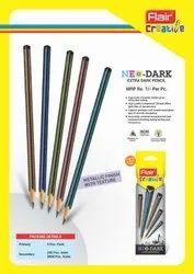 Black Multicolor Flair Neo Dark Pencils, For Writing, Packaging Size: 5 Pc Pack