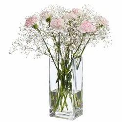 Transparent Square Flower Vase