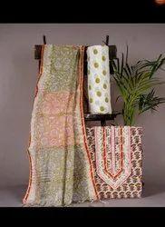 Block Printed Cotton Fabric Suit