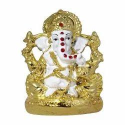 Ganpati White Body Statue /Car Dashboard Idol