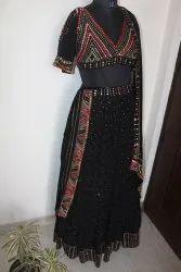Wedding Wear Black Georgette Lehenga Choli