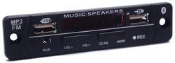 Electronic Spices 12V Dual USB Bluetooth FM USB AUX Card MP3 Stereo Audio Player