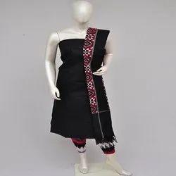 Batik Print Cotton Fabric, Black