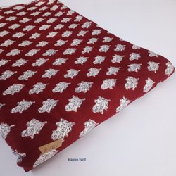 Hand Block Cotton Fabric Fabric