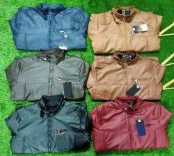 Full Sleeve Maroon Mens Leather Jacket