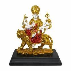 Gold Plated Hindu Goddess Durga Maa /Devi Handicraft Decorative Spiritual Statue/ Murti