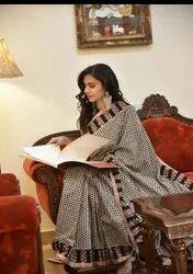 Hand Block Printed Cotton Fabric Saree