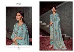 Karachi Prints Straight Cotton Embroidery Suit, Handwash