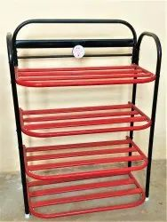 ASE Organiser Black And Red Shelf Shoe Rack, Size: 30*22*11 Inch, 4