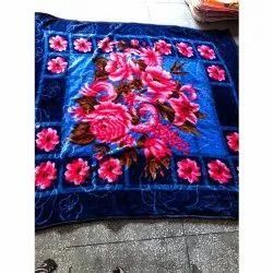 Printed Blue Mink Blankets