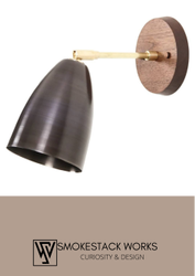 Smokestack Works Warm White Brass Single Wall Light Lamp, For Home Decor