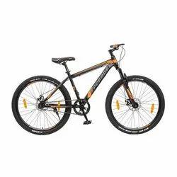 为男孩升级黑橙色自行车,大小:27.5