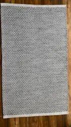 Cotton Grey Handwoven Flatweave Rug, Size: 27 X 45 Inch