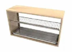 SS Dish Rack With Drain Tray