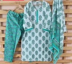 Sea Green Pure Cotton Suit