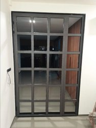 Modern Gray Aluminium Domal Window, For Home