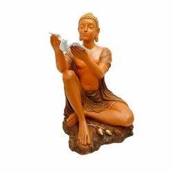 Big Buddha Statue/Figurine with Bird in Hand