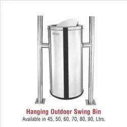 SS Hanging Swing Bin