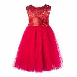 Girl TBKF2014PC Toy Balloon Kids Party Wear Peach Dress