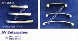 Silver Furniture Cabinet Handle, Finish Type: Stainless Steel, Size/Dimension: 4, 6 & 8