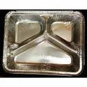 3 CP  Silver Aluminum Foil Disposable Food Containers