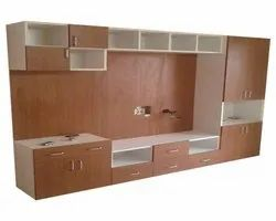 Brown Wooden Home LCD TV Cabinet