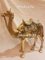 Brass Camel Statues Decorative Items Showpiece, For Interior Decor