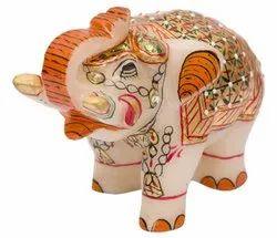 Marble 3 inch elephant miniature artwork