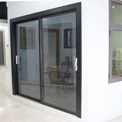 Modern White Aluminum Sliding Window, For Home