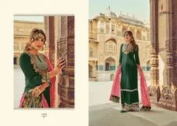 eba lifestyle georgette Designer party wear work suits, Dry clean