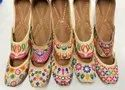 Genuine Leather Embroidered Colorful Juttis