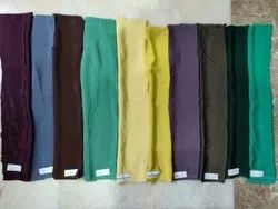 Plain French Crepe Dyed Fabric In Lumps, 100