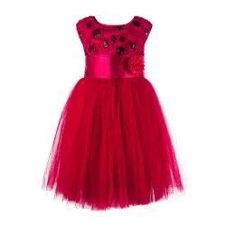 Pink Girl TBKF2014PK - Toy Balloon Kids Party Wear Knee Length Frock